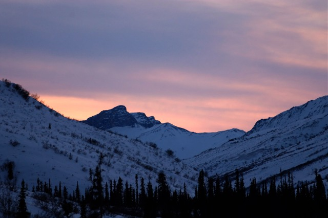 Sunset in the brooks range