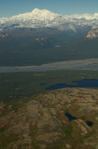 Denali from the airplane